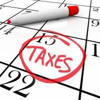Taxes on a Calendar